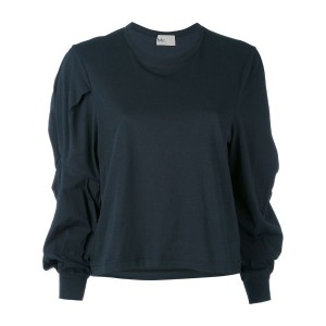 Kolor - gathered sleeve top - women - コットン - 3