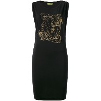 Versace Jeans - logo print dress - women - スパンデックス/ビスコース/Polyimide - 44