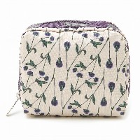 LeSportsac レスポートサック ポーチ 6701 SQUARE COSMETIC D940 BACHELORS BUTTON [並行輸入商品]