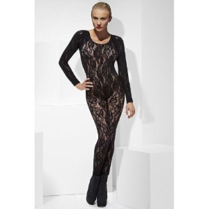 Fever Women's Body Stocking Lace In Display Box, Black, One Size