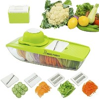 NEWEST 2016 MANDOLINE SLICER Cuts Fruits & Vegetables, Straight & Julienne-Vegetable Slicer - Food...