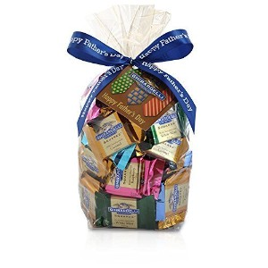 Happy Father's Day SQUARES Gift Bag - 80 Count by Ghirardelli [並行輸入品]