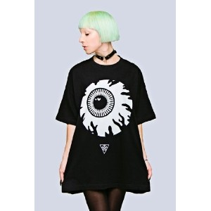 LONG CLOTHING x MISHKA ロングクロージング x ボーイロンドン OVERSIZE KEEP WATCH T-SHIRT - BLACK [正規販売店]