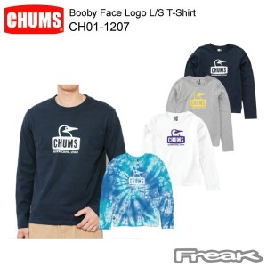 CHUMS チャムス LS Tシャツ CH01-1207<Booby Face Logo L/S T-Shirt ブービーフェイスロゴ長袖Tシャツ >※取り寄せ品