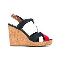 Tommy Hilfiger - colourblock wedge sandals - women - Tactel/レザー/rubber - 36