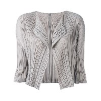 Pleats Please By Issey Miyake - cropped blazer - women - ポリエステル - 3