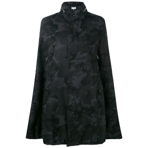 Vis A Vis - camouflage cape coat - women - リネン - II