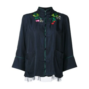 Muveil - embroidered jacket - women - キュプロ/Tencel - 38