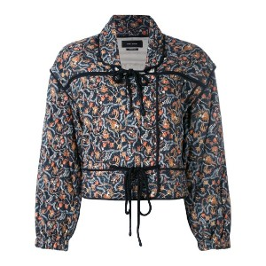 Isabel Marant - quilted tie-up jacket - women - シルク/コットン - 40