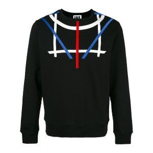 Les Hommes Urban - geometric print sweatshirt - men - コットン - S