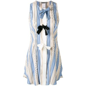 Sportmax - striped bow top - women - シルク - 44