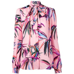 Emilio Pucci - tied neck printed shirt - women - シルク - 42