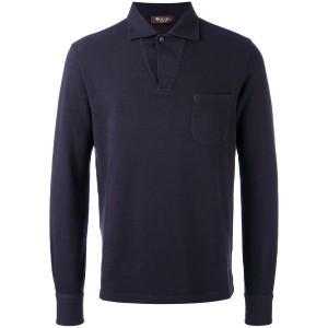 Loro Piana - open neck polo top - men - コットン/カシミア - S