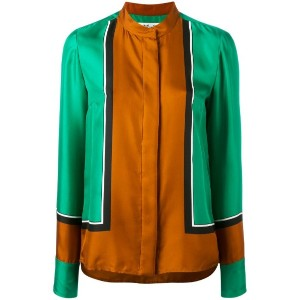 Diane Von Furstenberg - colour-block blouse - women - シルク - 2