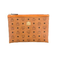 MCM - printed zipped pouch - women - カーフレザー - ワンサイズ