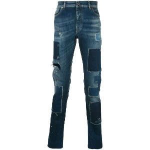 Diesel Black Gold - patch tapered jeans - men - コットン/スパンデックス - 31