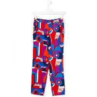 Junior Gaultier - printed wide leg trousers - kids - ビスコース - 14 yrs