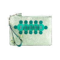 Anya Hindmarch - embellished clutch bag - women - カーフレザー - ワンサイズ