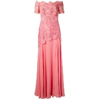 Martha Medeiros - off the shoulder lace Patricia gown - women - シルク/コットン - 44