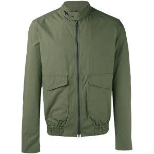 Fay - plain biker jacket - men - コットン/ポリアミド - M