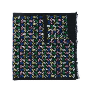 Ps By Paul Smith - multicolour teardrop stitched scarf - men - ウール - ワンサイズ
