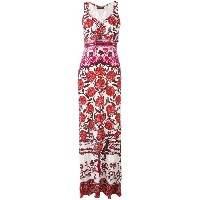 Roberto Cavalli - rose print maxi dress - women - シルク/コットン/ビスコース - 40