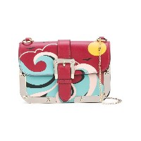 Red Valentino - abstract patterned shoulder bag - women - コットン/カーフレザー - ワンサイズ