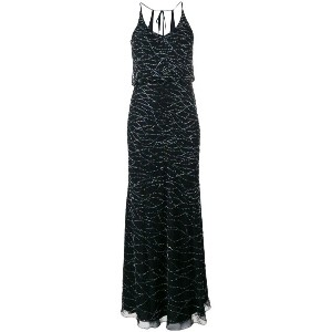 Armani Collezioni - glitter long dress - women - ポリアミド/ポリエステル/plastic/glass - 40