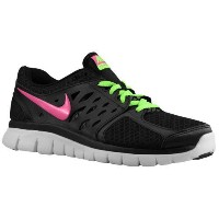 (取寄)ナイキ レディース フレックス ラン 2013 Nike Women's Flex Run 2013 Black Flash Lime White Club Pink