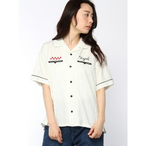 X-girl X-girl x Delicious Pizza BOWLING SHIRT エックスガール【送料無料】