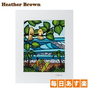 Heather Brown ヘザーブラウン Open Edition Matted Art Prints アートプリント Ku'uipos/Ku'uipo クゥイポ HB9071P ハワイ 絵画...