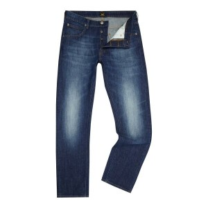 リー メンズ ボトムス ジーンズ【Lee Daren strong hand regular slim fit jeans】Denim Mid Wash
