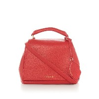 ルル ギネス レディース バッグ トートバッグ【Lulu Guinness Small Grainy Leather Rita bag with lip charm】Red