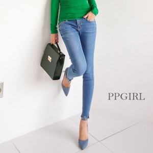 送料 0円★PPGIRL_9442 Most skinny jeans / denim pants / skinny fit / stretch jeans