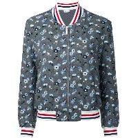 Thom Browne - embroidered flower bomber jacket - women - ウール - 42