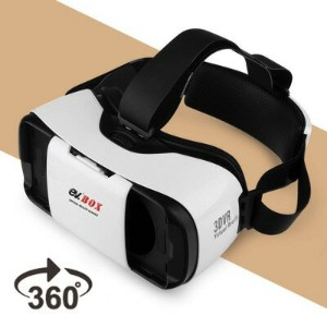 3D VRゴーグル VRヘッドセット 4.7-5.7インチ スマホ用 360°ビュー EV Virtual Reality Glasses 3D Movie Game Box, for iPhone...