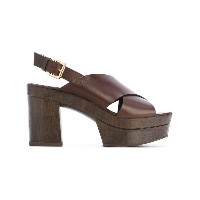 L'Autre Chose - clogs with crossover straps - women - カーフレザー/レザー/rubber - 36