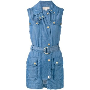 Michael Michael Kors - sleeveless denim jacket - women - リヨセル - L