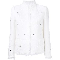 Roberto Cavalli - embellished jacket - women - コットン/ビスコース - 44