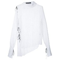 Juan Hernandez Daels - Collapse shirt - women - シルクベルベット - M