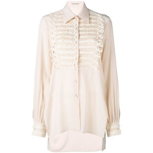Ermanno Scervino - pearl buttons shirt - women - シルク/真鍮/Polymethyl Methacrylate - 40