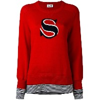 Sonia By Sonia Rykiel - contrast layer jumper - women - コットン - XS