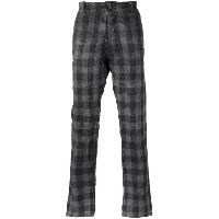 Transit - checked trousers - men - コットン - S