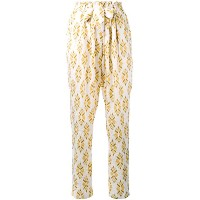 Forte Forte - Diamante jacquard straight trousers - women - シルク - 1