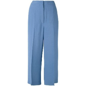 Sportmax - cropped trousers - women - ビスコース - 46
