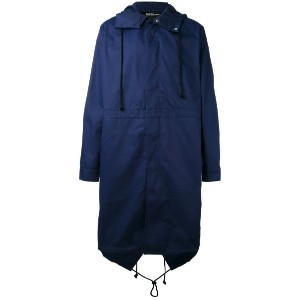 Raf Simons - back print hooded coat - men - コットン/ポリエステル - 50