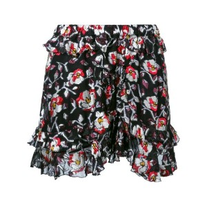 Isabel Marant - floral pattern shorts - women - シルク/ポリエステル - 40
