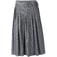 Vince - striped pleated skirt - women - コットン - XS