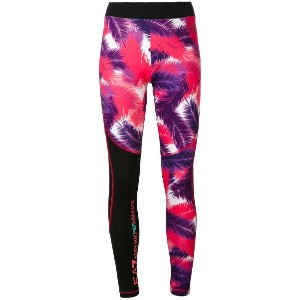 Ea7 Emporio Armani - palm print leggings - women - ポリエステル/スパンデックス - XS