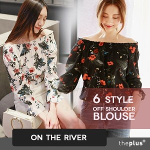★ontheriver ★ Off Shoulder Pattern Blouse 6 type! / Korean Fashion / Plus size /